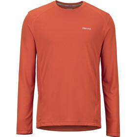 Marmot Windridge Maglietta a maniche lunghe Uomo arancione